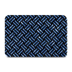 Woven2 Black Marble & Blue Marble Plate Mat by trendistuff