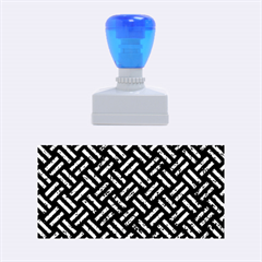 Woven2 Black Marble & Blue Marble Rubber Stamp (medium) by trendistuff