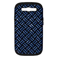 Woven2 Black Marble & Blue Marble Samsung Galaxy S Iii Hardshell Case (pc+silicone) by trendistuff