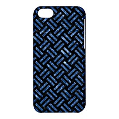 Woven2 Black Marble & Blue Marble Apple Iphone 5c Hardshell Case by trendistuff