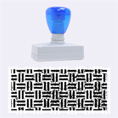 Woven1 Black Marble & Blue Marble (r) Rubber Stamp (large) by trendistuff