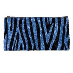 Skin4 Black Marble & Blue Marble (r) Pencil Case
