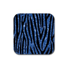 Skin4 Black Marble & Blue Marble Rubber Square Coaster (4 Pack) by trendistuff