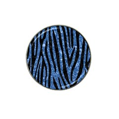 Skin4 Black Marble & Blue Marble Hat Clip Ball Marker (4 Pack) by trendistuff