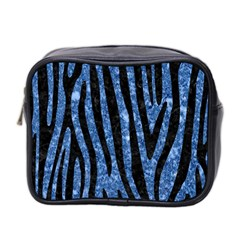 Skin4 Black Marble & Blue Marble Mini Toiletries Bag (two Sides) by trendistuff