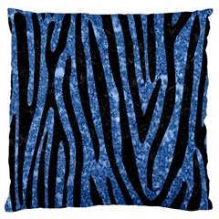 Skin4 Black Marble & Blue Marble Standard Flano Cushion Case (one Side) by trendistuff