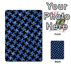 Houndstooth2 Black Marble & Blue Marble Multi Purpose Cards (rectangle) by trendistuff