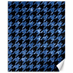 Houndstooth1 Black Marble & Blue Marble Canvas 11  X 14  by trendistuff