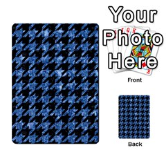 Houndstooth1 Black Marble & Blue Marble Multi Purpose Cards (rectangle) by trendistuff