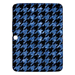 Houndstooth1 Black Marble & Blue Marble Samsung Galaxy Tab 3 (10 1 ) P5200 Hardshell Case  by trendistuff