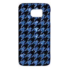 Houndstooth1 Black Marble & Blue Marble Samsung Galaxy S6 Hardshell Case  by trendistuff