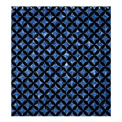 Circles3 Black Marble & Blue Marble (r) Shower Curtain 66  X 72  (large) by trendistuff
