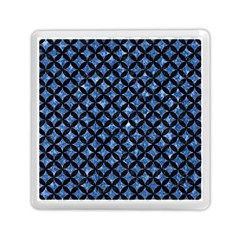 Circles3 Black Marble & Blue Marble (r) Memory Card Reader (square) by trendistuff