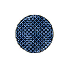 Circles3 Black Marble & Blue Marble Hat Clip Ball Marker by trendistuff