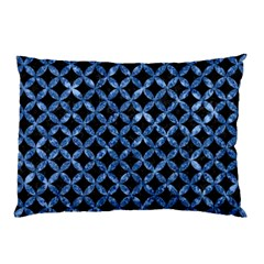 Circles3 Black Marble & Blue Marble Pillow Case (two Sides) by trendistuff