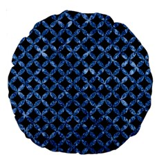 Circles3 Black Marble & Blue Marble Large 18  Premium Round Cushion  by trendistuff