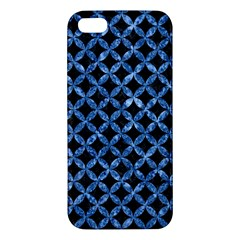 Circles3 Black Marble & Blue Marble Apple Iphone 5 Premium Hardshell Case