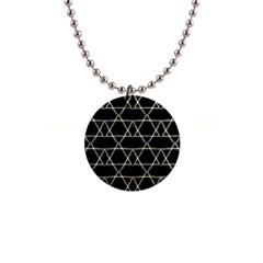 Star Of David   Button Necklaces by SugaPlumsEmporium