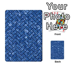 Brick2 Black Marble & Blue Marble (r) Multi Purpose Cards (rectangle) by trendistuff