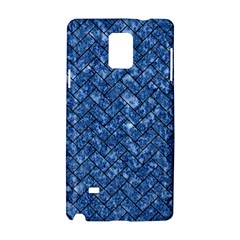 Brick2 Black Marble & Blue Marble (r) Samsung Galaxy Note 4 Hardshell Case by trendistuff