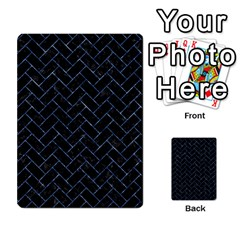 Brick2 Black Marble & Blue Marble Multi Purpose Cards (rectangle) by trendistuff