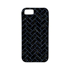 Brick2 Black Marble & Blue Marble Apple Iphone 5 Classic Hardshell Case (pc+silicone) by trendistuff