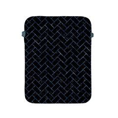 Brick2 Black Marble & Blue Marble Apple Ipad 2/3/4 Protective Soft Case by trendistuff