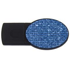 Brick1 Black Marble & Blue Marble (r) Usb Flash Drive Oval (2 Gb) by trendistuff