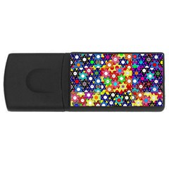 Star Of David Usb Flash Drive Rectangular (4 Gb)  by SugaPlumsEmporium