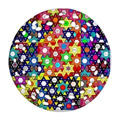 Star Of David Round Filigree Ornament (2side) by SugaPlumsEmporium