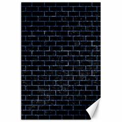 Brick1 Black Marble & Blue Marble Canvas 20  X 30  by trendistuff