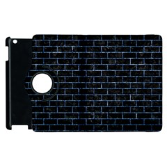 Brick1 Black Marble & Blue Marble Apple Ipad 2 Flip 360 Case by trendistuff