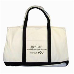 Wedding Favor/thank You Two Tone Tote Bag by LittileThingsInLife
