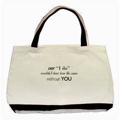 Wedding Favor/thank You Basic Tote Bag (two Sides) by LittileThingsInLife
