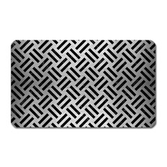 Woven2 Black Marble & Silver Brushed Metal (r) Magnet (rectangular) by trendistuff