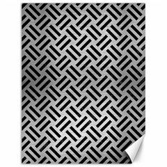 Woven2 Black Marble & Silver Brushed Metal (r) Canvas 12  X 16  by trendistuff