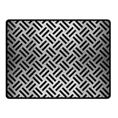 Woven2 Black Marble & Silver Brushed Metal (r) Double Sided Fleece Blanket (small) by trendistuff
