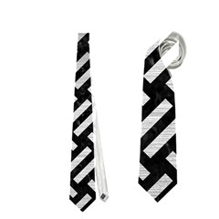 Woven2 Black Marble & Silver Brushed Metal Necktie (two Side)