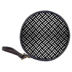 Woven2 Black Marble & Silver Brushed Metal Classic 20 Cd Wallet by trendistuff