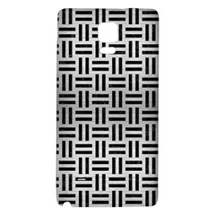 Woven1 Black Marble & Silver Brushed Metal (r) Samsung Note 4 Hardshell Back Case by trendistuff