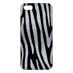 Skin4 Black Marble & Silver Brushed Metal (r) Apple Iphone 5 Premium Hardshell Case