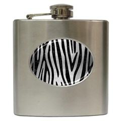 Skin4 Black Marble & Silver Brushed Metal Hip Flask (6 Oz) by trendistuff