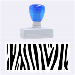 Skin4 Black Marble & Silver Brushed Metal Rubber Stamp (large) by trendistuff