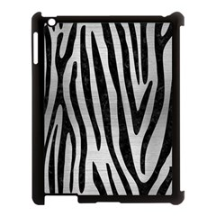Skin4 Black Marble & Silver Brushed Metal Apple Ipad 3/4 Case (black) by trendistuff