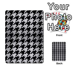 Houndstooth1 Black Marble & Silver Brushed Metal Multi Purpose Cards (rectangle) by trendistuff