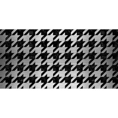 Houndstooth1 Black Marble & Silver Brushed Metal You Are Invited 3d Greeting Card (8x4) by trendistuff
