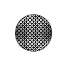 Circles3 Black Marble & Silver Brushed Metal Hat Clip Ball Marker (4 Pack) by trendistuff