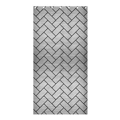 Brick2 Black Marble & Silver Brushed Metal (r) Shower Curtain 36  X 72  (stall) by trendistuff