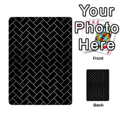 Brick2 Black Marble & Silver Brushed Metal Multi Purpose Cards (rectangle) by trendistuff