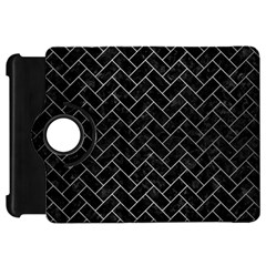 Brick2 Black Marble & Silver Brushed Metal Kindle Fire Hd Flip 360 Case by trendistuff